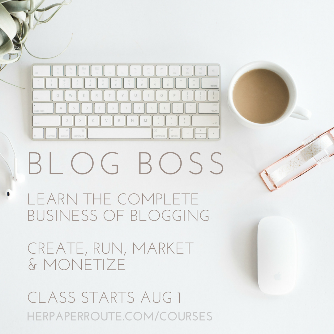 BLOG BOSS LEARN TO CREATE A PROFITABLE BLOG ONLINE COURSE
