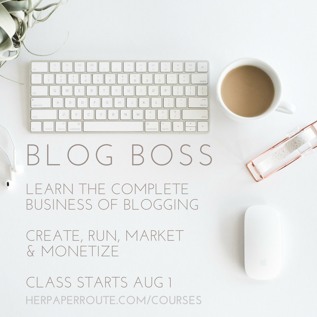 BLOG BOSS LEARN TO CREATE A PROFITABLE BLOG – Online course