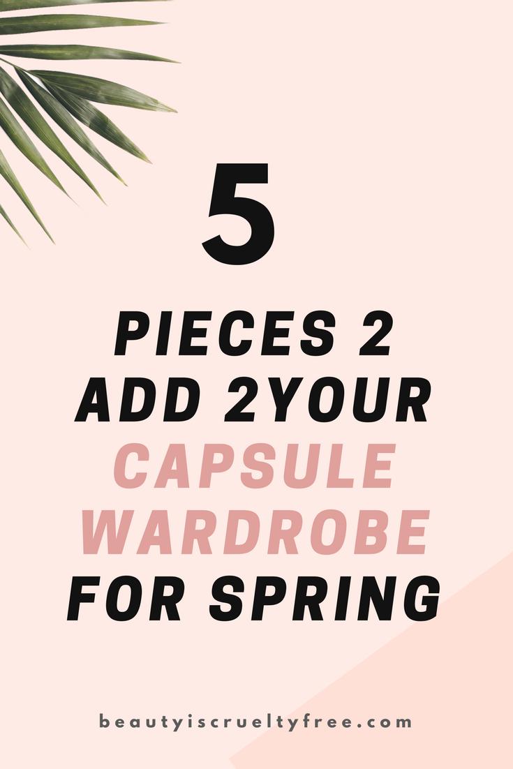Spring capsule wardrobe capsule wardrobe ebook capsule wardrobe planner minimalism minimalist style | BeautyIsCrueltyFree.com